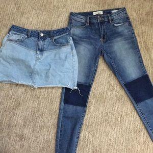 Pacsun pants and denim skirt